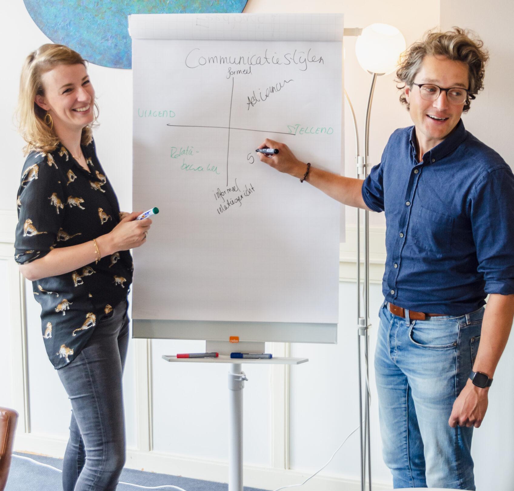 Trainers Sander van der Horst en Joline Wortelboer